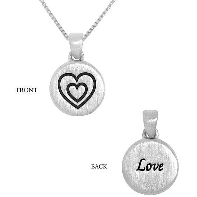 Sterling Silver Double Love Necklace