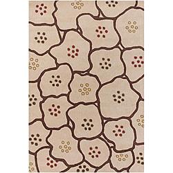 Artist's Loom Hand-tufted Contemporary Geometric Wool Rug (2'x3')