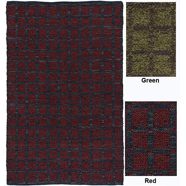 "Artist's Loom Hand-woven Contemporary Geometric Natural Eco-friendly Fiber Rug (3'6 x 5'6) - 3'6"" x 5'6"""