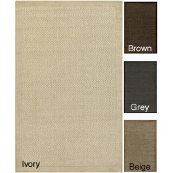 Artist's Loom Hand-tufted Contemporary Border Wool Rug (8'x10') - 8' x 10'