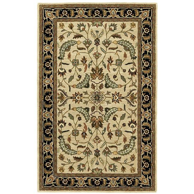 Hand-tufted Patina Beige Wool Rug (5' x 8') - 5' x 8'