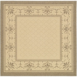 Safavieh Royal Natural/ Brown Indoor/ Outdoor Rug (6'7 Square)