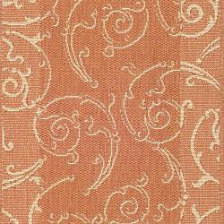 Safavieh Indoor/ Outdoor Oasis Terracotta/ Natural Runner (2'4 x 6'7)