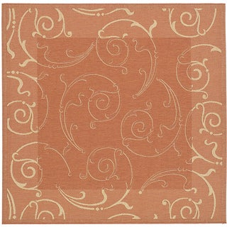 Safavieh Oasis Scrollwork Terracotta/ Natural Indoor/ Outdoor Rug (6'7 Square)
