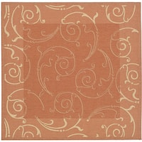 Safavieh Oasis Scrollwork Terracotta/ Natural Indoor/ Outdoor Rug - 6'7 Square