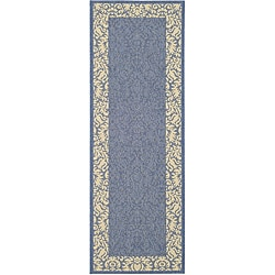 Safavieh Indoor/ Outdoor Kaii Blue/ Natural Runner (2'4 x 6'7)
