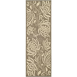 Safavieh Andros Brown/ Natural Indoor/ Outdoor Runner (2'4 x 6'7)