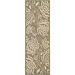 Safavieh Indoor/ Outdoor Andros Brown/ Natural Runner (2'4 x 6'7)