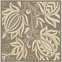 Safavieh Andros Brown/ Natural Indoor/ Outdoor Rug (7'10 Square)