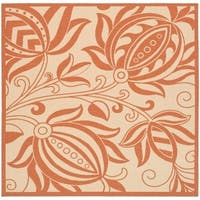 "Safavieh Andros Natural/ Terracotta Indoor/ Outdoor Rug - 7'10"" x 7'10"" Square"