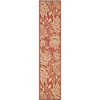 Safavieh Andros Red/ Natural Indoor/ Outdoor Runner (2'4 x 9'11)