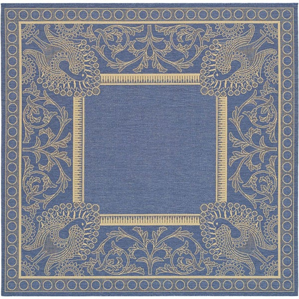Safavieh Abaco Blue/ Natural Indoor/ Outdoor Rug (6'7 Square)