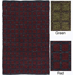 Artist's Loom Hand-woven Contemporary Geometric Natural Eco-friendly Fiber Rug (2'6 x 6')
