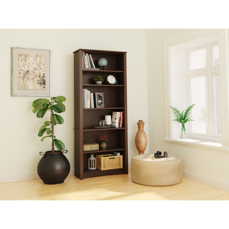 Buy Espresso Finish Bookshelves Bookcases Online At