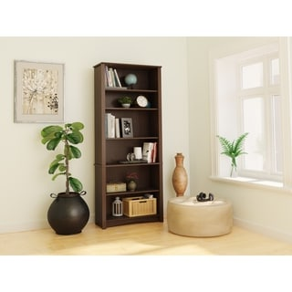 everett espresso 6shelf bookcase