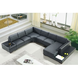 Artistant House 4-piece White Leather Sectional