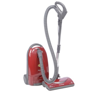 Panasonic MC-CG902 Burgundy 360-degree Swivel Canister Bag Vacuum