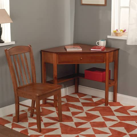 Simple Living Savannah 2-piece Corner Wood Desk and Chair Set