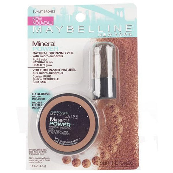 Maybelline Sunlit Bronze Mineral Powder Veil and Brush (Pack of 4)