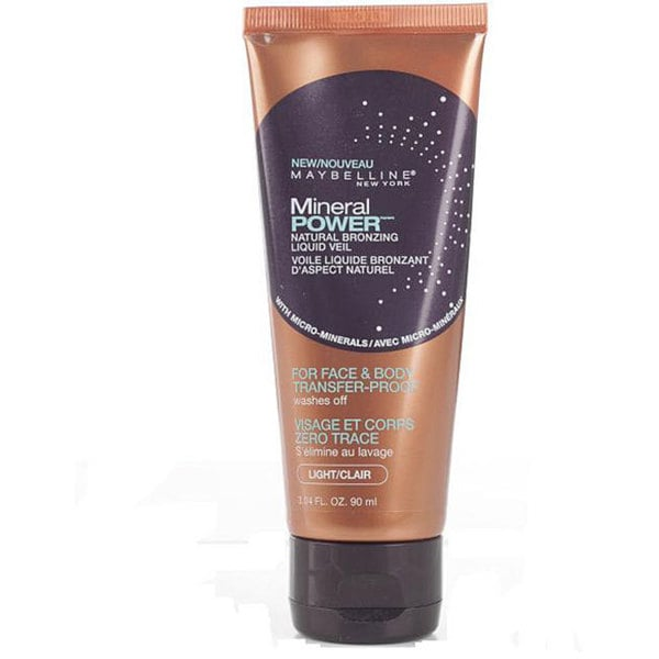 Maybelline Light Face and Body Mineral Powder Veil Liquid (Pack of 4)