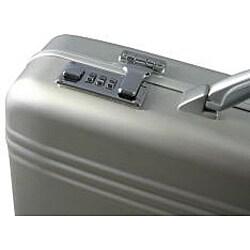 World Traveler Aluminum Silver Laptop Attache Case