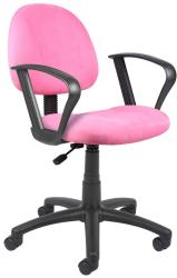 Boss Microfiber Deluxe Posture Chair (Option: Pink)