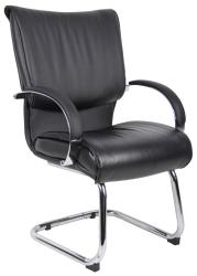 Boss Mid Back Leatherplus Bonded Leather Guest Chair - Thumbnail 1