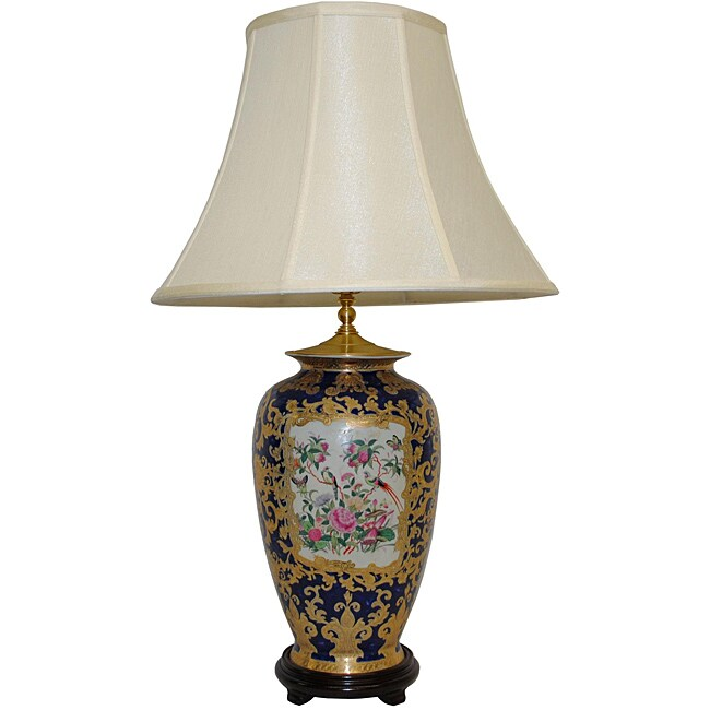 Royal Rose Medallion Porcelain Table Lamp