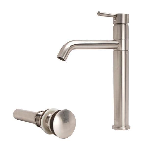 Fontaine European Brushed Nickel Vessel Filler Bathroom Faucet