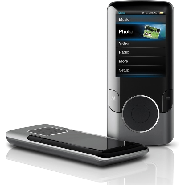 Coby MP707 8 GB Black Flash Portable Media Player