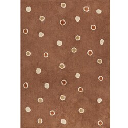 Handmade Chocolate Dots Cotton Rug (4' x 6')