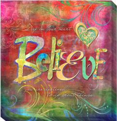 Connie Haley 'Believe' Canvas Giclee Art - Thumbnail 2