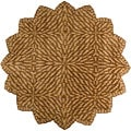 Hand-tufted Circle Leaves Green Wool Rug (8' Star)
