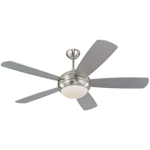 Monte Carlo Discus 52-inch Brushed Steel Finish Ceiling Fan - Brushed Steel