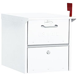 Salsbury White Roadside Mailbox