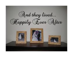 Design on Style 'And They Lived Happily Ever After' Black Vinyl Wall Art Quote