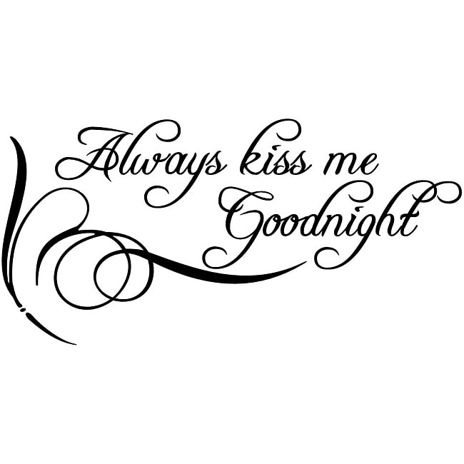 Design on Style 'Always Kiss Me Goodnight' Vinyl Wall Art Quote