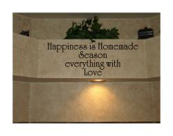 Design on Style 'Happiness Is Homemade - Season Everything With Love' Vinyl Wall Art Quote - Thumbnail 1