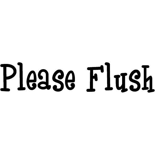 Design on Style 'Please Flush' Vinyl Wall Art Quote