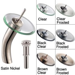 Kraus Waterfall Sat-in Nickel Faucet with Drain