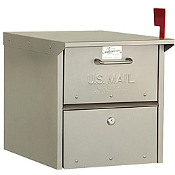 Heavy-duty Rural Nickel Finish Mailbox