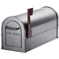Heavy-duty Rural Pewter Mailbox