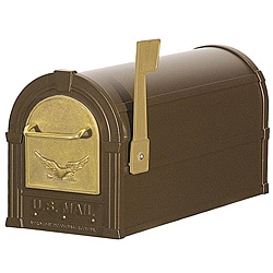 Bronze/ Gold Eagle Heavy Duty Rural Mailbox