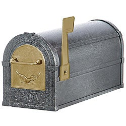 Pewter/ Gold Eagle Heavy-duty Rural Mailbox