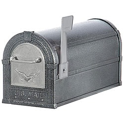 Pewter/ Silver Eagle Heavy-duty Rural Mailbox