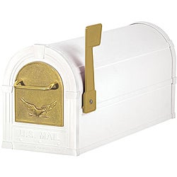 White/ Gold Eagle Heavy-duty Rural Mailbox
