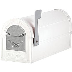 White/ Silver Eagle Heavy-duty Rural Mailbox