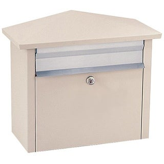 Beige Wall or Post-mount Mail House Mailbox