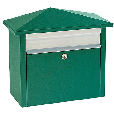 Green Wall- or Post-mount Mail House Mailbox