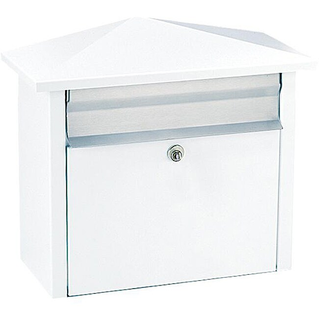White Wall Mount : White Wall- or Post-mount Mail House Mailbox - Free Shipping Today ...